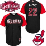 Cleveland Indians #22 Jason Kipnis Black 2015 All-Star American League Stitched MLB Jersey