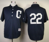 Cleveland Indians #22 Jason Kipnis Navy Blue 1902 Turn Back The Clock Stitched MLB Jersey
