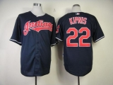 Cleveland Indians #22 Jason Kipnis Navy Blue Cool Base Stitched MLB Jersey