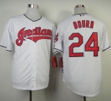 Cleveland Indians #24 Michael Bourn White Cool Base Stitched MLB Jersey
