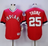 Cleveland Indians #25 Jim Thome Red 1978 Turn Back The Clock Stitched MLB Jersey