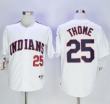 Cleveland Indians #25 Jim Thome White 1978 Turn Back The Clock Stitched MLB Jersey