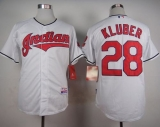 Cleveland Indians #28 Corey Kluber White Cool Base Stitched MLB Jersey