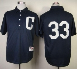 Cleveland Indians #33 Nick Swisher Navy Blue 1902 Turn Back The Clock Stitched MLB Jersey