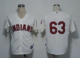 Cleveland Indians #63 Justin Masterson Cream Cool Base Stitched MLB Jersey