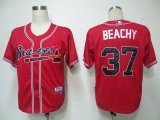 Atlanta Braves #37 Brandon Beachy Red Cool Base Stitched MLB Jersey