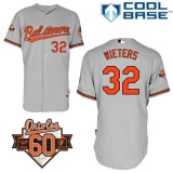 Baltimore Orioles #32 Matt Wieters Grey Cool Base Stitched MLB Jersey