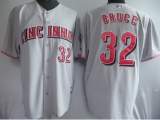 Cincinnati Reds #32 Jay Bruce Grey Cool Base Stitched MLB Jersey