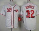 Cincinnati Reds #32 Jay Bruce White Cool Base Stitched MLB Jersey