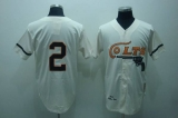 Mitchell and Ness Colts #2 Fox Stitched Cream Throwback MLB Jersey