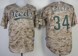 Cincinnati Reds #34 Homer Bailey Camo Alternate Cool Base Stitched MLB Jersey