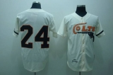 Mitchell and Ness Colts #24 Jimmy Wynn Stitched Cream Throwback MLB Jersey