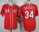 Cincinnati Reds #34 Homer Bailey Red Cool Base Stitched MLB Jersey
