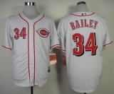 Cincinnati Reds #34 Homer Bailey White Cool Base Stitched MLB Jersey