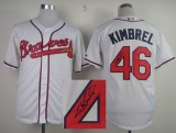 Atlanta Braves #46 Craig Kimbrel White Cool Base Autographed Stitched MLB Jersey