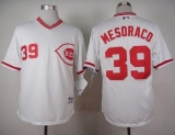 Cincinnati Reds #39 Devin Mesoraco White 1990 Turn Back The Clock Stitched MLB Jersey