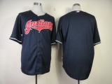 Cleveland Indians Blank Navy Blue Cool Base Stitched MLB Jersey