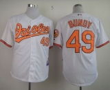 Baltimore Orioles #49 Dylan Bundy White Cool Base Stitched MLB Jersey
