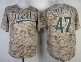 Cincinnati Reds #47 Johnny Cueto Camo Alternate Cool Base Stitched MLB Jersey