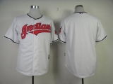 Cleveland Indians Blank White Cool Base Stitched MLB Jersey