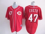 Cincinnati Reds #47 Johnny Cueto Red Cool Base Stitched MLB Jersey