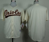 Baltimore Orioles Blank Cream 1954 Turn Back The Clock Stitched MLB Jersey