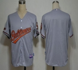 Baltimore Orioles Blank Grey Cool Base Stitched MLB Jersey