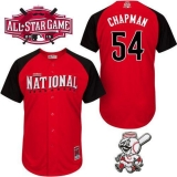 Cincinnati Reds #54 Aroldis Chapman Red 2015 All-Star National League Stitched MLB Jersey