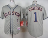 Houston Astros #1 Carlos Correa Grey Cool Base Stitched MLB Jersey