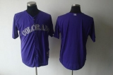 Colorado Rockies Blank Purple Cool Base Stitched MLB Jersey