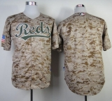 Cincinnati Reds Blank Camo Alternate Cool Base Stitched MLB Jersey