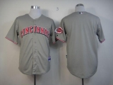 Cincinnati Reds Blank Grey Cool Base Stitched MLB Jersey