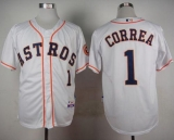 Houston Astros #1 Carlos Correa White Cool Base Stitched MLB Jersey