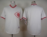 Cincinnati Reds Blank White 1990 Turn Back The Clock Stitched MLB Jersey