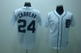 Detroit Tigers #24 Miguel Cabrera Stitched White MLB Jersey