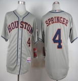Houston Astros #4 George Springer Grey Cool Base Stitched MLB Jersey