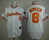 Mitchell And Ness 1970 Baltimore Orioles #8 Cal Ripken White Throwback Stitched MLB Jersey