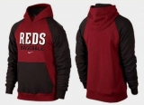 Cincinnati Reds Pullover Hoodie Burgundy Red & Black
