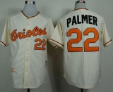Mitchell And Ness 1970 Baltimore Orioles #22 Jim Palmer Cream Throwback Stitched MLB Jersey