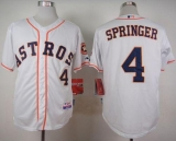 Houston Astros #4 George Springer White Cool Base Stitched MLB Jersey
