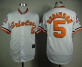 Mitchell And Ness 1989 Baltimore Orioles #5 Brooks Robinson White Throwback Stitched MLB Jersey