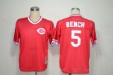 Mitchell And Ness Cincinnati Reds #5 Johnny Bench Red Throwback Stitched MLB Jersey
