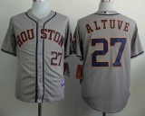 Houston Astros #27 Jose Altuve Grey Cool Base Stitched MLB Jersey