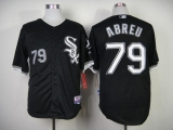 Chicago White Sox #79 Jose Abreu Black Cool Base Stitched MLB Jersey