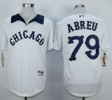 Chicago White Sox #79 Jose Abreu White 1976 Turn Back The Clock Stitched MLB Jersey