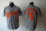 Mitchell and Ness Baltimore Orioles #5 Brooks Robinson Grey Stitched Throwback MLB Jersey