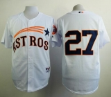 Houston Astros #27 Jose Altuve White 1965 Turn Back The Clock Stitched MLB Jersey