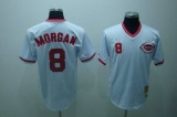 Mitchell and Ness Cincinnati Reds #8 Joe Morgan Stitched White Throwback MLB Jersey