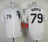 Chicago White Sox #79 Jose Abreu White With Black Strip Stitched MLB Jersey
