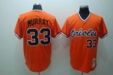 Mitchell and Ness Baltimore Orioles #33 Eddie Murray Stitched Orange Throwback MLB Jersey